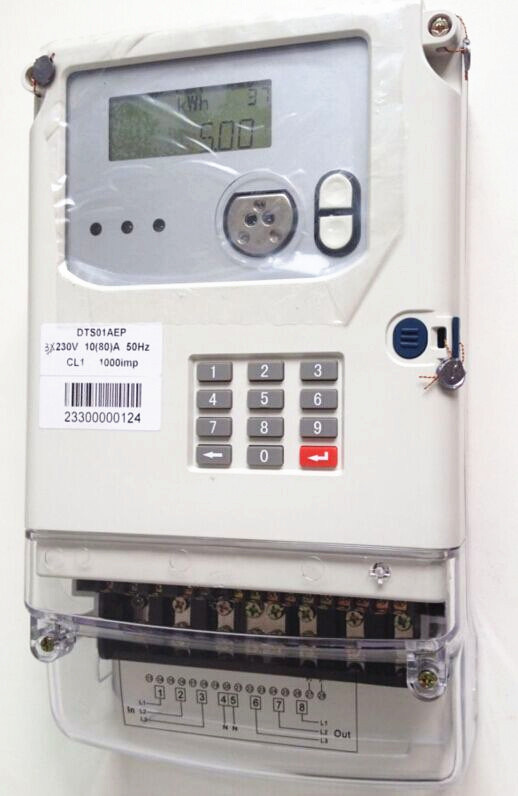 Three Phase Sts Keypad Prepayment Electric Meter