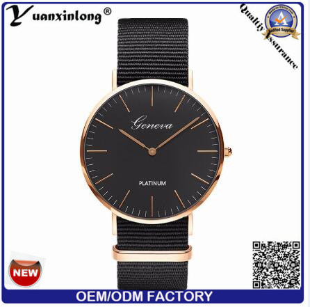 Yxl-327 2016 Fashion Japan Movt Quart Mens Wrist Watch Pormotional Leather Clock Watches Custom OEM Dw Style Watch