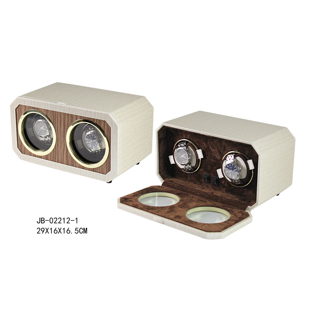 Handcraft 2PCS Operated Gift Packaging Box Automatic Watch Winder