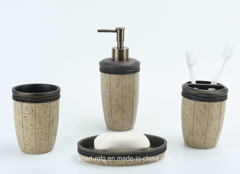 Sand Antique Polyresin Bathroom Accessory