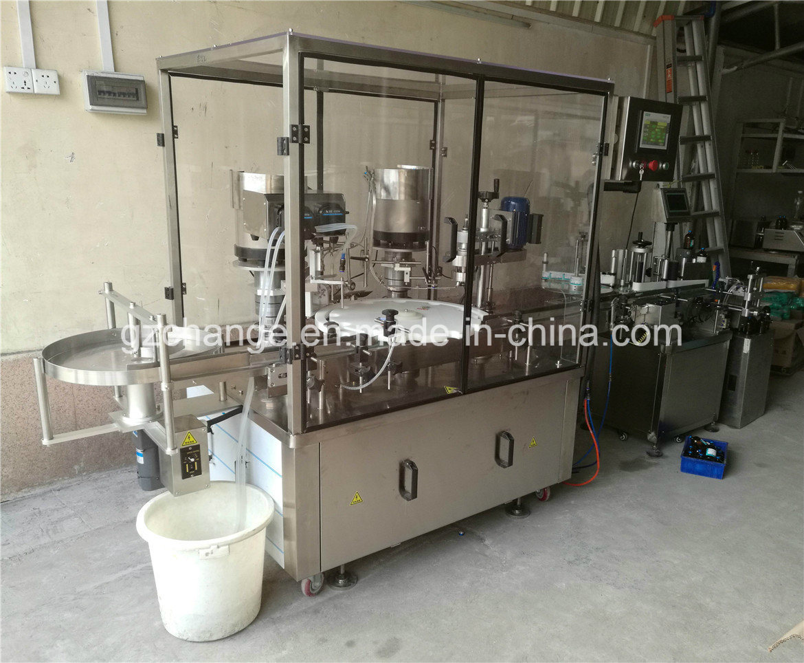 Fully Automatic Vial Ampoule Bottle Filling Stoppering Capping Labeling Machine