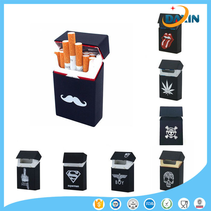 Promotional Cheap Custom Logo Silicone Cigarette Case for 20 Pack