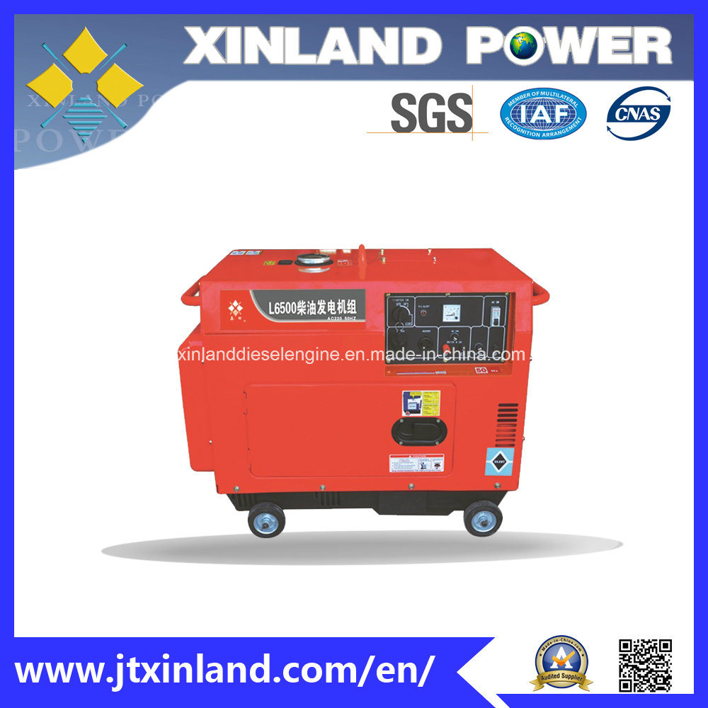 Single or 3phase Diesel Generator L6500se 50Hz with ISO 14001