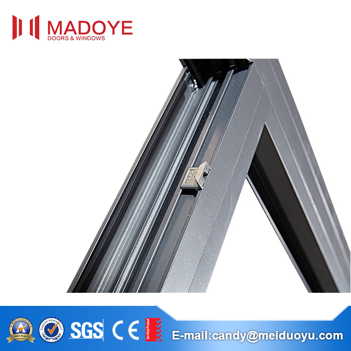 Professional Aluminium Alloy Frame Tempered Glass Sliding Window