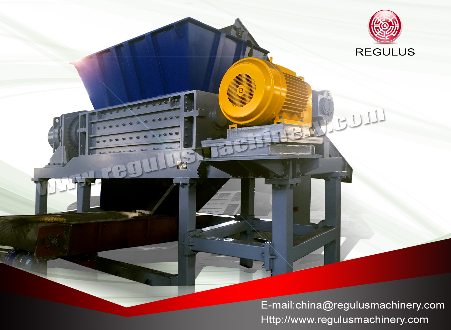 Double Shaft Shredder/Plastic Shredder of Recycling Machine with Ce