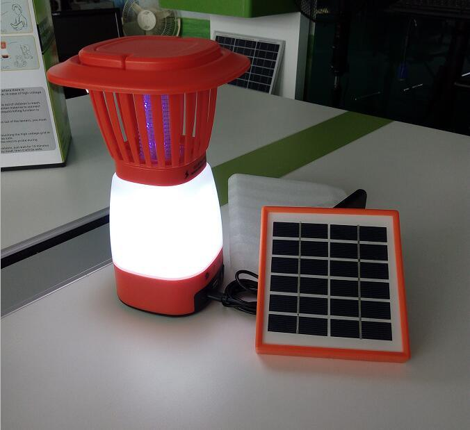 Portable Solar Mosquito Killer with Light and Mobile Phone Charger