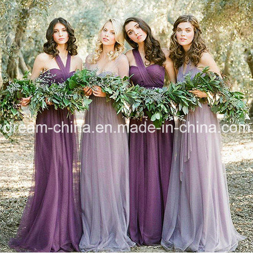 2017 off-Shoulder One-Shoulder Vintage Evening Bridesmaid Ladies Dress (Dream-100095)