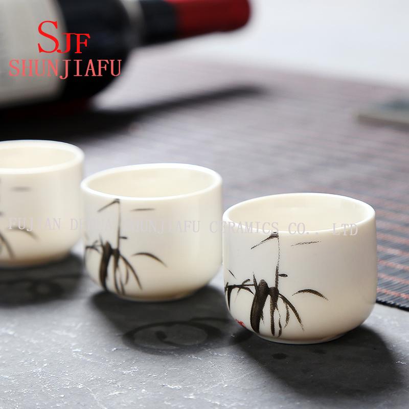 A Grade Ceramic Mini Tea Cup/Bone China Shot Cup/Ceramic Wine Cup with Printing.