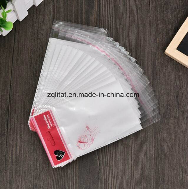 Customzied Transparent OPP Printed Self-Adhesive Plastic Bag with Header
