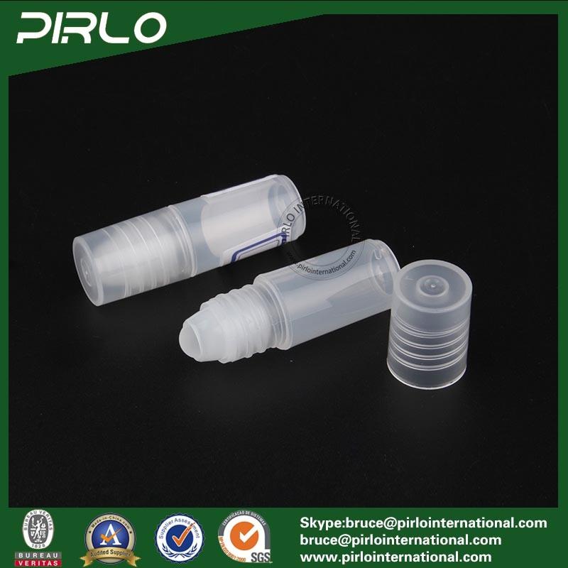 3ml Translucid Color Plastic Roll on Bottle Empty PP Plastic Cosmetic Deodorant Roll on Bottle Essential Oil Roll on Bottles