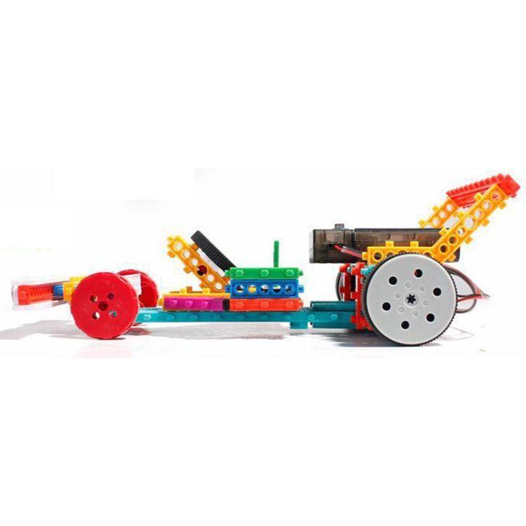1488721-4 in 1 Tank Robot Block Kit Remote Control RC Blocks Set Education Creative Toy 237PCS - Color Random