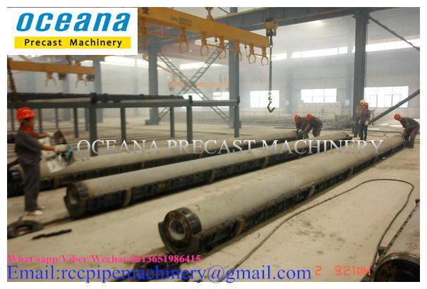 Concrete Pole Machine for Prestressed Concrete Poles Length 9-15m
