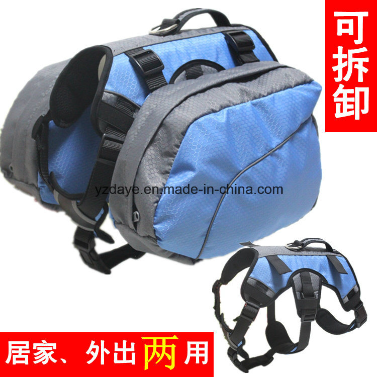 Adjustable Dog Backpack Pet Products for Hiking Camping Travel Pack Outdoor Accessory Saddlebag (YD636)