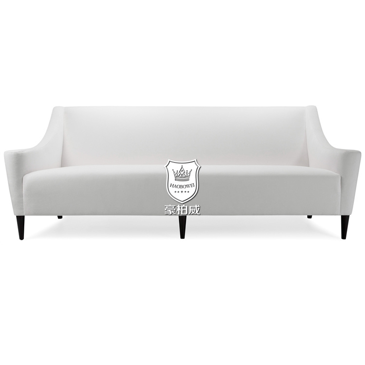 Pure White Italian Leather Sofas for Hotel