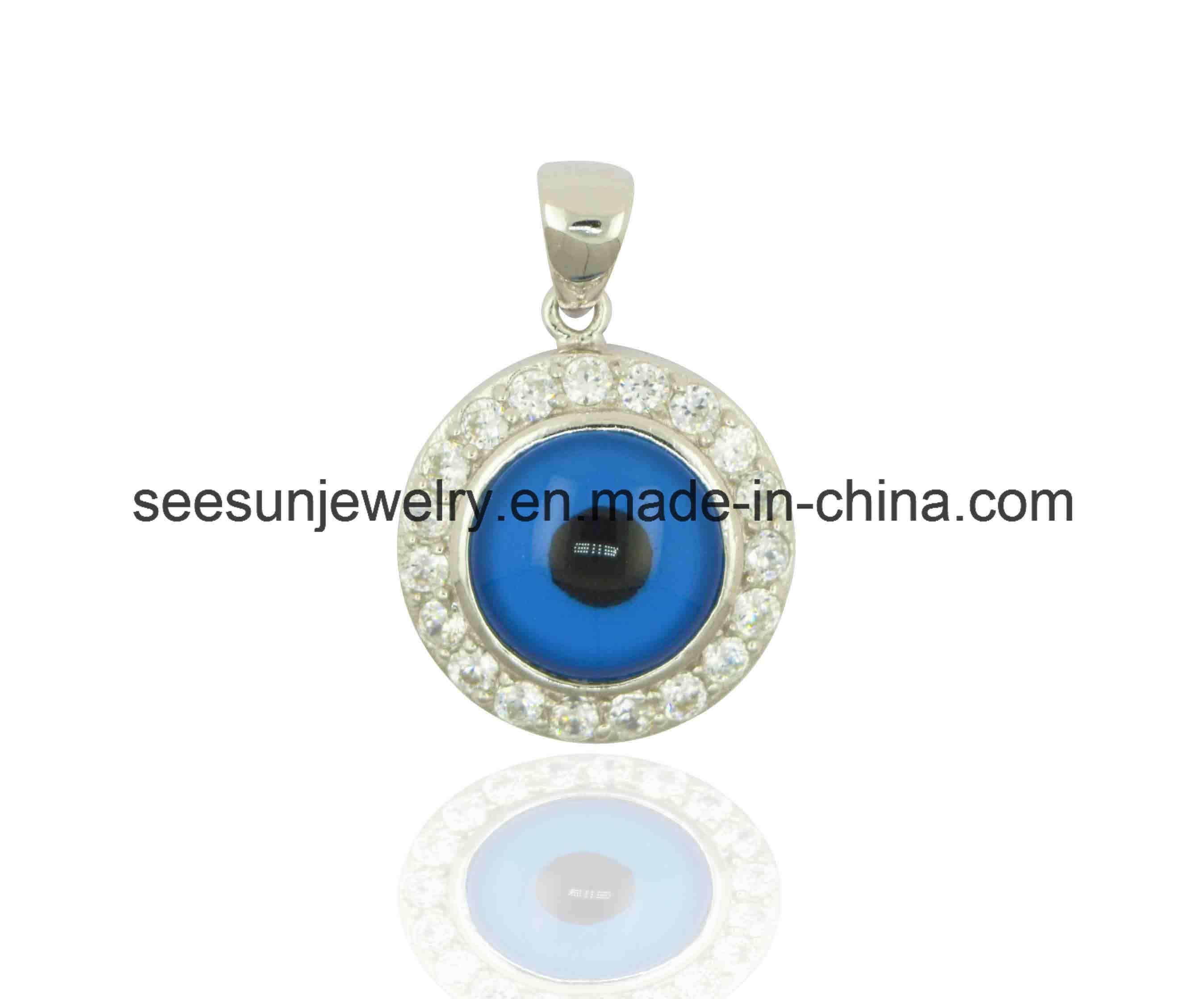 925 Sterling Silver Jewelry Greek Eye Evil Eye Pendant