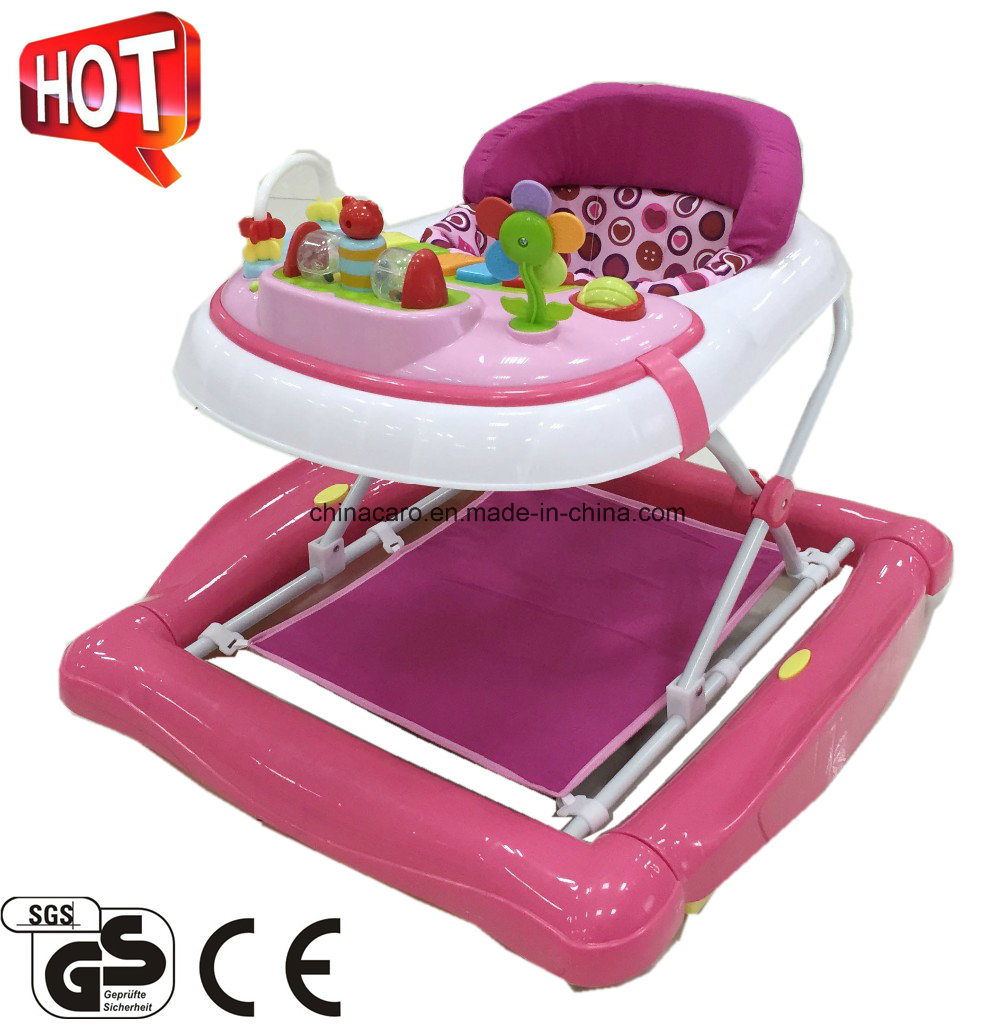 2017 New Model Foldable Plastic Baby Walker With Toys (CA-BW201)
