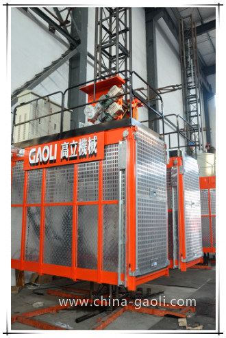 Gaoli 96m/Min Speed Sc200/200 Construction Hoist