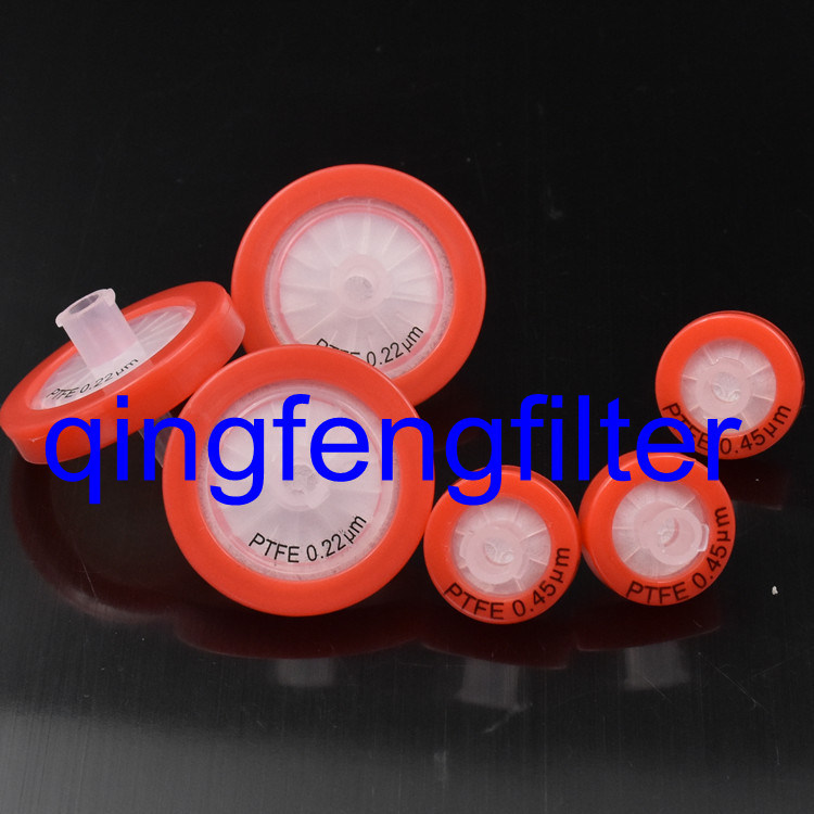 25mm PTFE 0.22um Syringe Filter for Venting/Gas Filtration