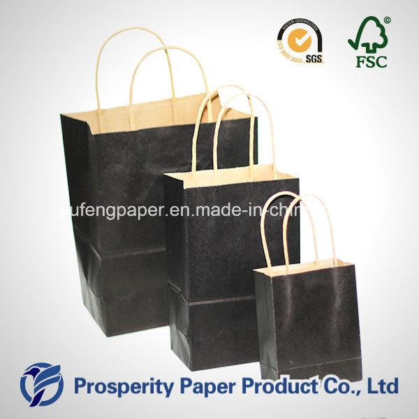 Black Kraft Paper Handbag