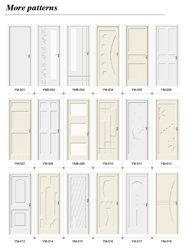 European Style WPC Waterproof Decorative Interior Doors (YMB-003)