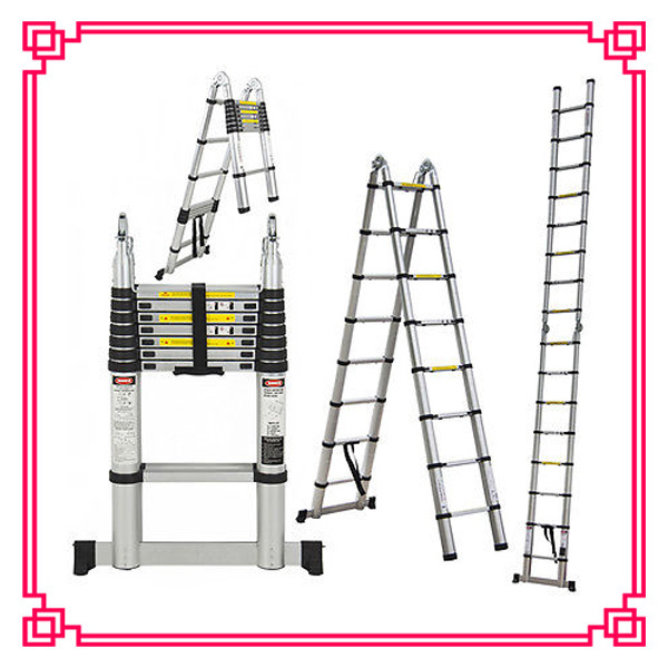 5m Aluminum Telescopic Bamboo Ladder with SGS/CE Approval