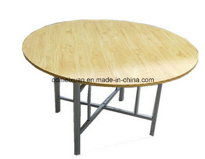 Snack Restaurants Selling Round Table Folding Big Round Table Dinner Table (M-X3438)