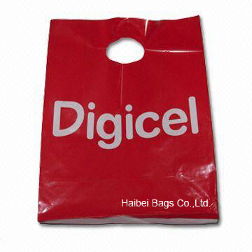 Customize Your Plastic Shopping Carrier Bag with MOQ 5000 (HBPE-1)
