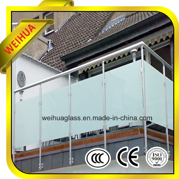 Milk White Laminated Glass Railings