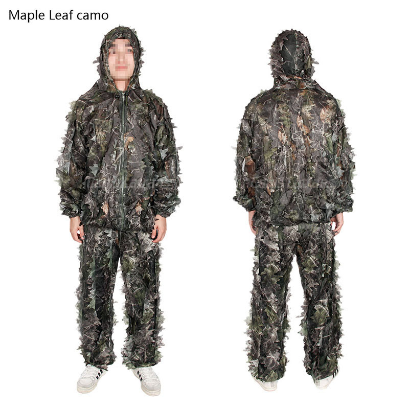 Camouflage Ghillie, Military Ghillie, Army Lightweight Leaf Ghillie Suit Cl34-0074