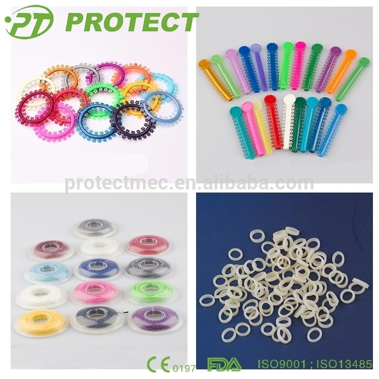 Protect Orthodontic Dental Elastic Colorful Ligature Tie with CE