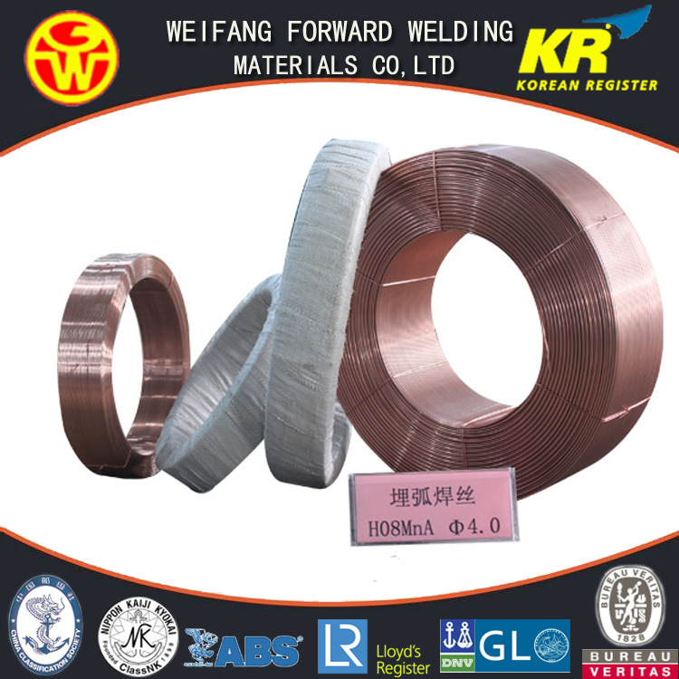 H08A Solid Submerged Arc Welding Wire EL12 of Golden Bridge Welding Quality ISO9001