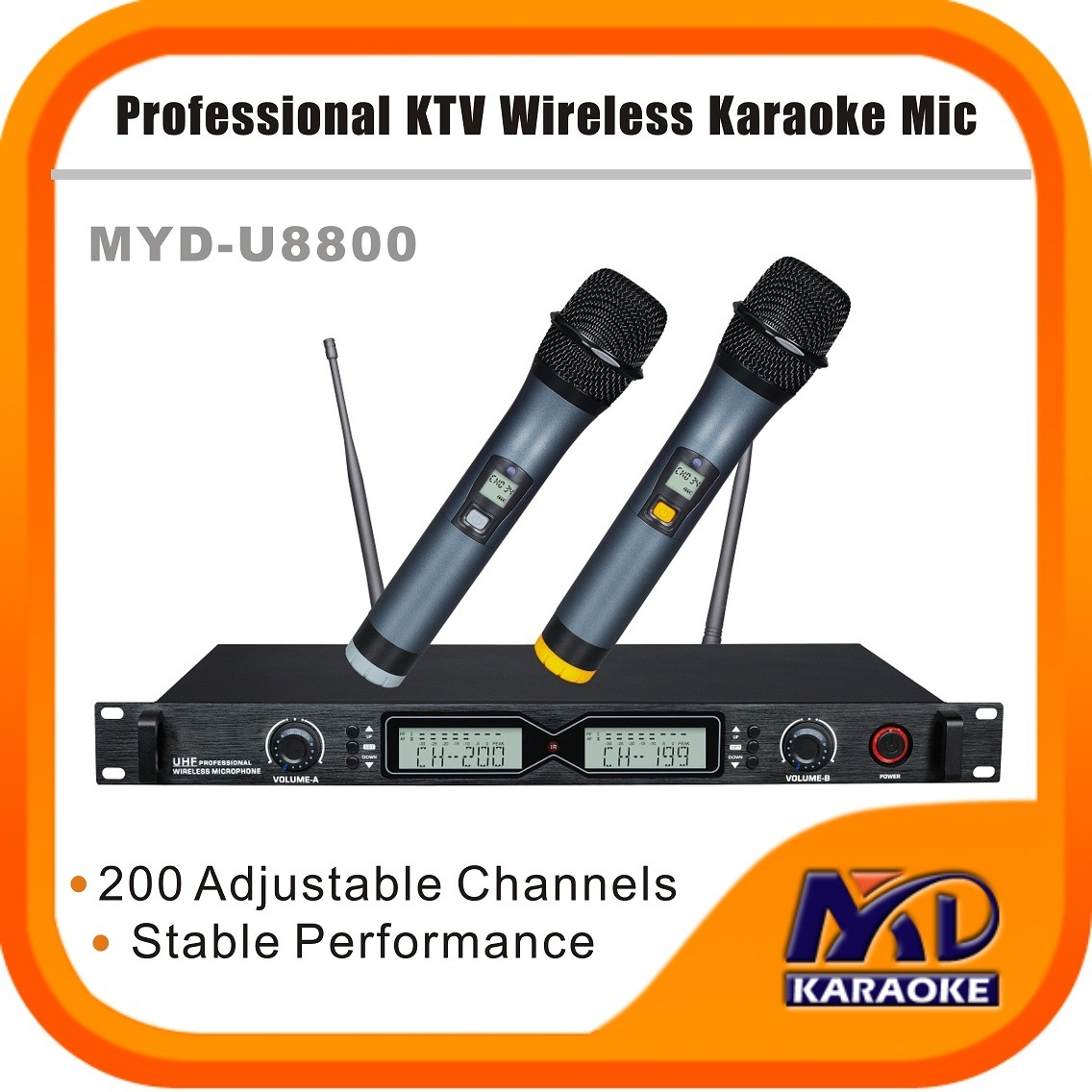 UHF Wireless Microphones 200 Channels