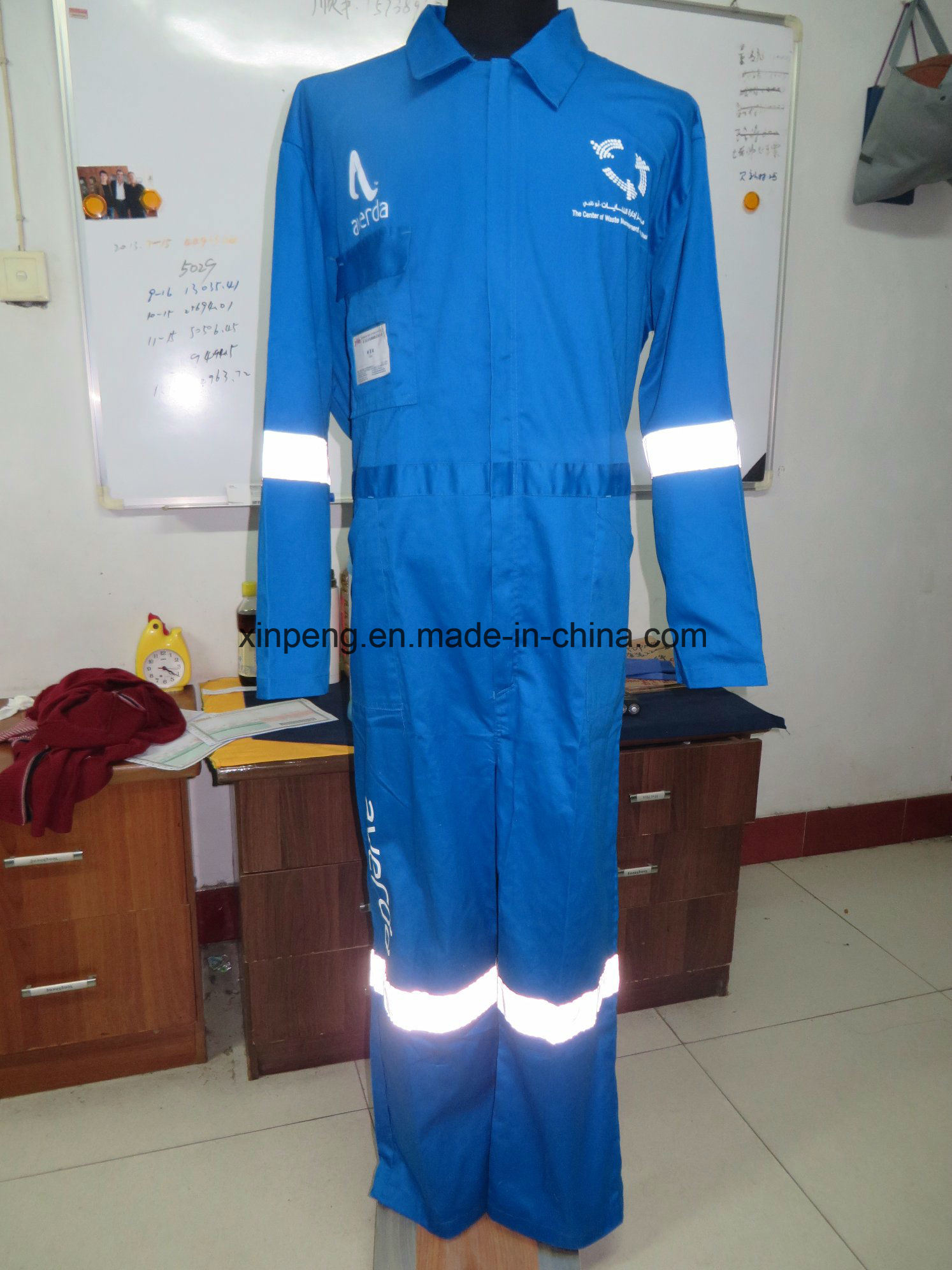 Workwear Overall with Printing and Reflective Tapes