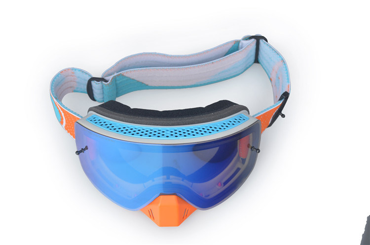 Photochromic Polarized PC Lens Skiing Safety Goggles Over Glasses