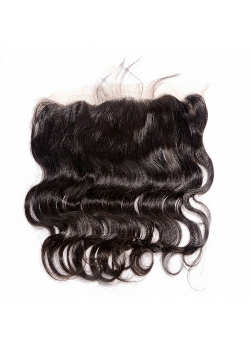 Stock 13X4 Lace Frontal Body Wave Brazilian Virgin Hair Natural Hairline Bleached Knots Lace Frontal Closures