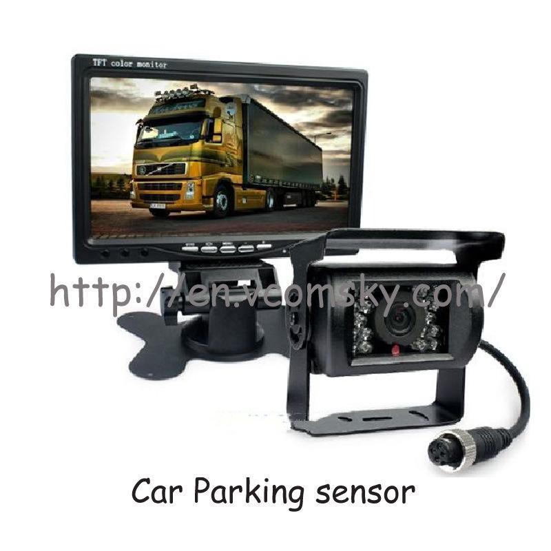 "12V-24V 4pin CCD Reversing 4X Camera & 7"" Split Quad Rear View TFT LCD Monitor"