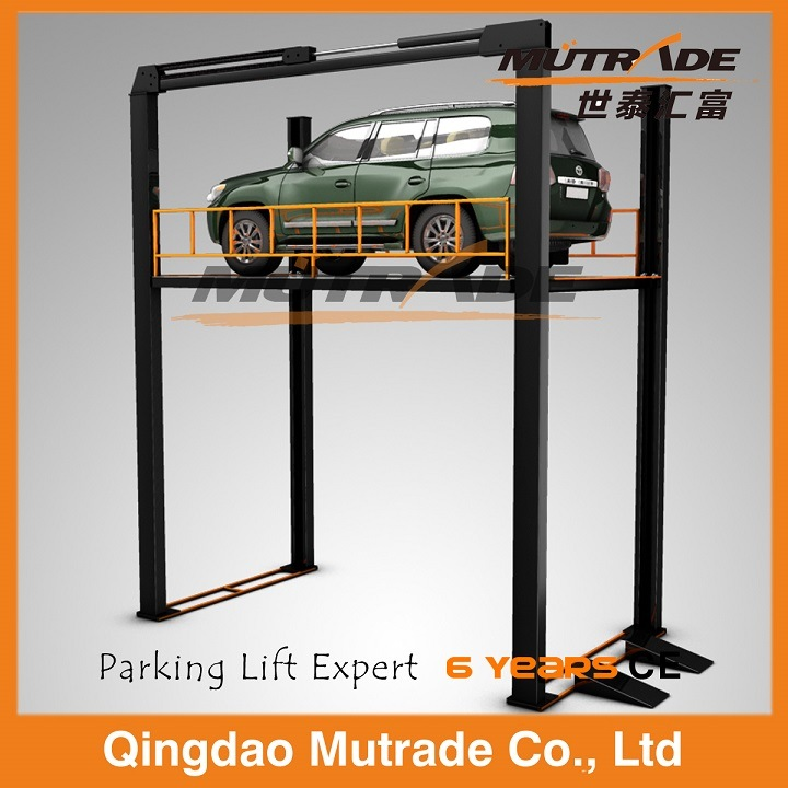 Four Post Vertical Hydraulic Car Elevator