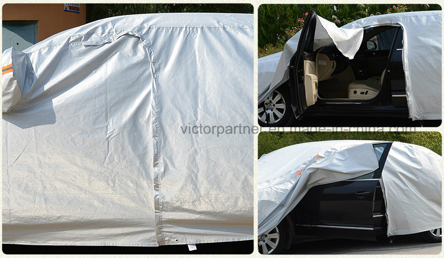 High End Folding Silver PEVA Theftproof Waterproof Sunshade Car Cover for Das Auto