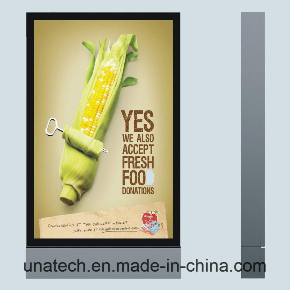 Outdoor Aisle Advertisement LED Scrolling Polymeric Vinyl Billboard Vertical Ads Lightbox