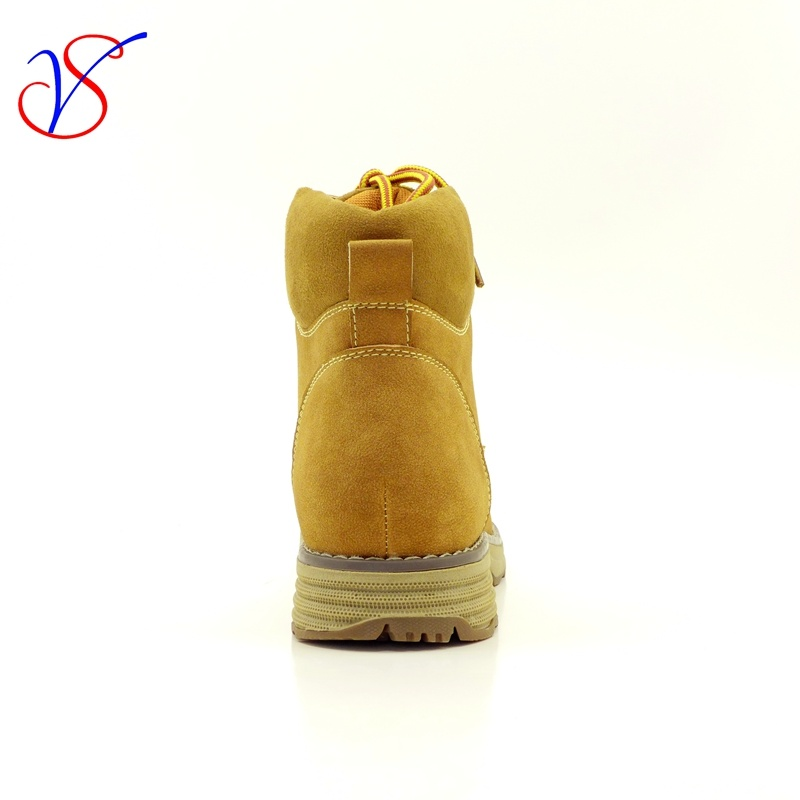 Three Color Men Women Safety Working Work Boots Shoes for Outdoor Job (SV-WK 003-TAN)