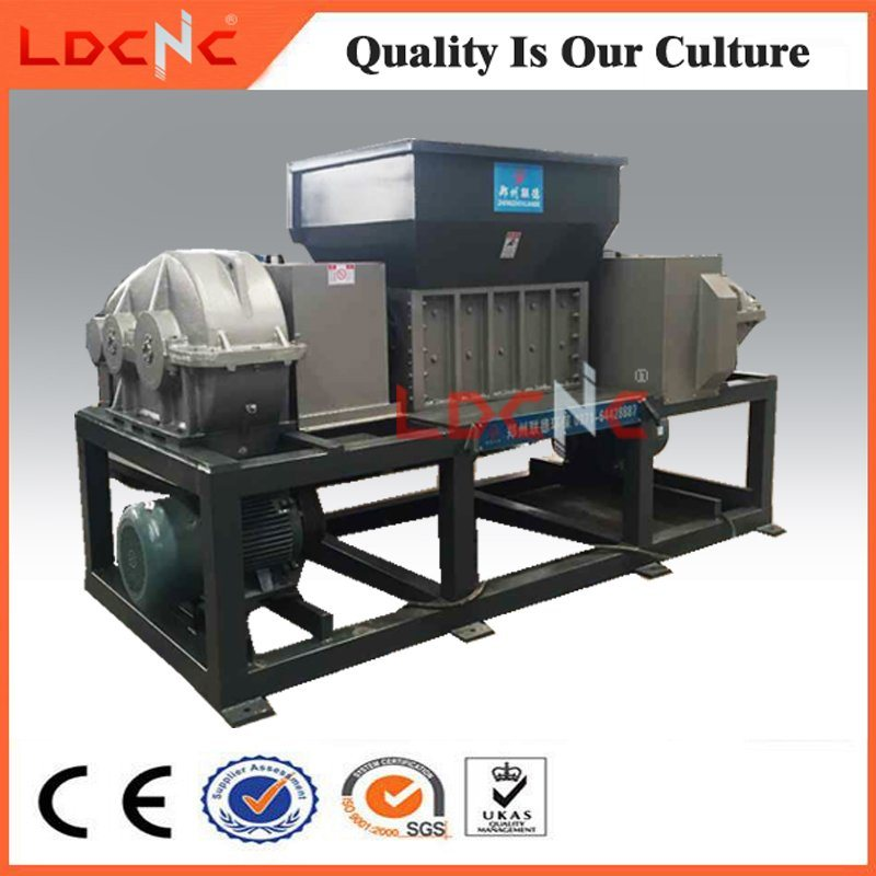 Waste Wood Pallet Twin Shaft Shredder Machine Manufacturer