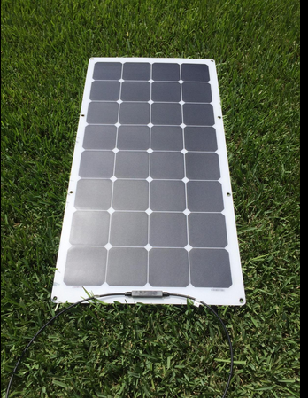 Customized Sunpower Semi Flexible Solar Panel 50W 100W 150W for Camping Car Marine RV Caravan