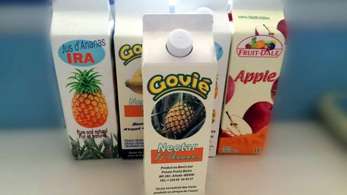 6 Layer Juice Gable Top Carton with Caps