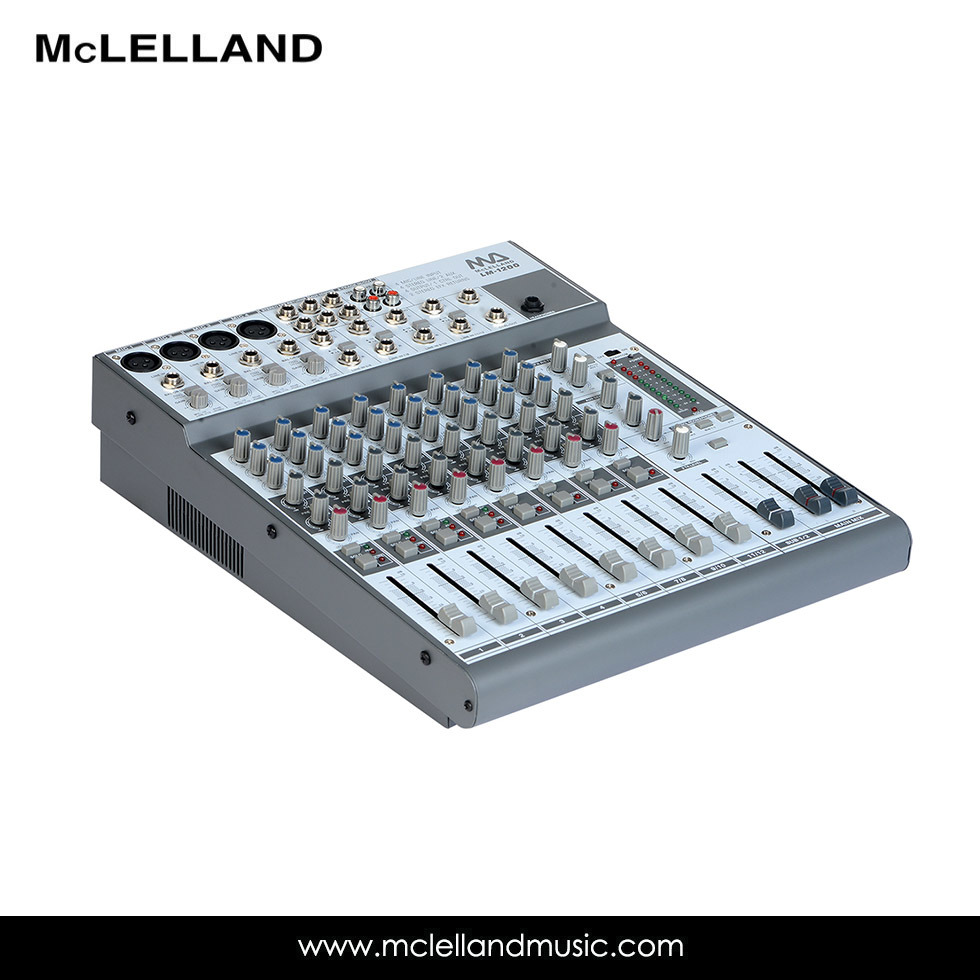 12 Channel Mixing Console with 4 Balance/Unbalanced Mono Line Input (LM-1200)