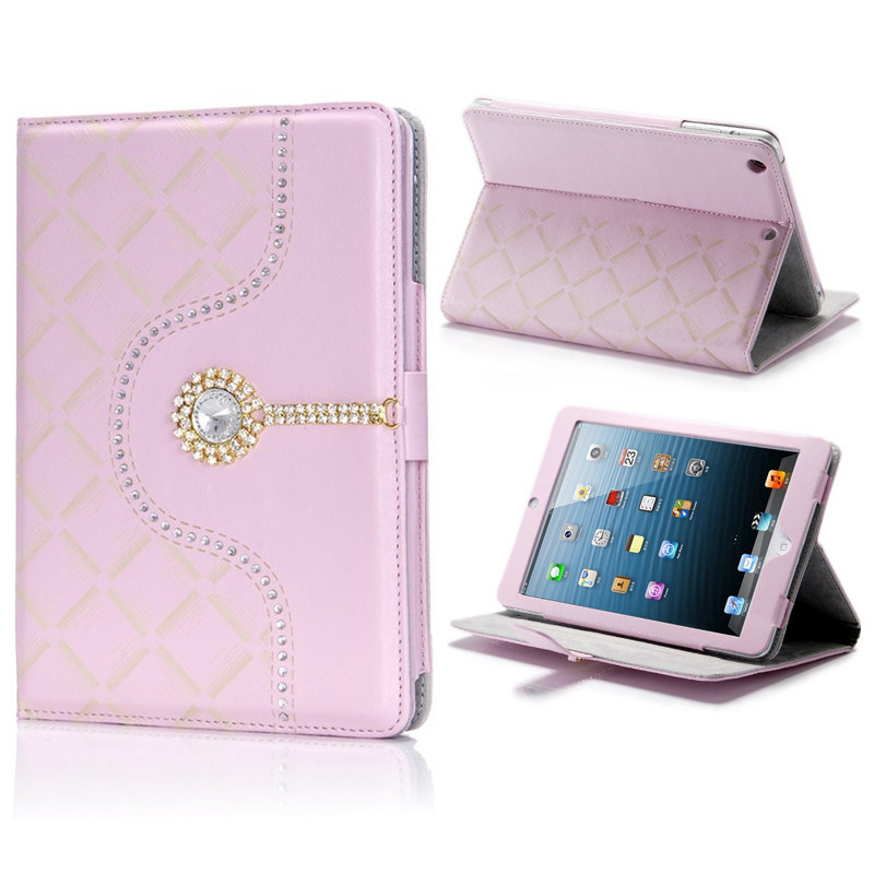 2015 New Design Good Quality Custom Leather Tablet Case for iPad 6/Air 2