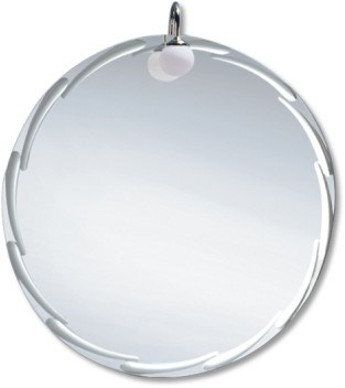 5mm Round Silver Mirror with Polished Edges (JNA029-1)