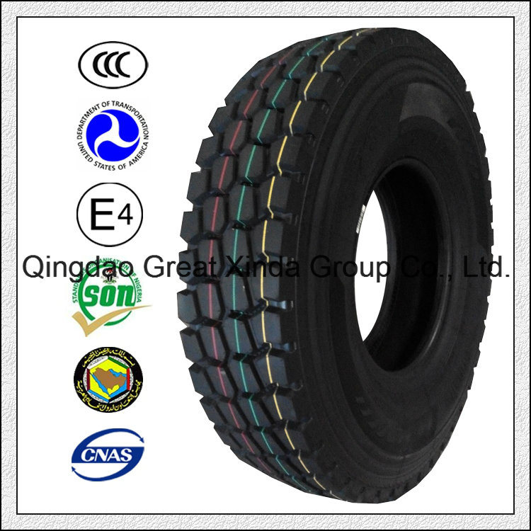 High Loading and High Speed Block Pattern Truck Tyre (12.00R20)