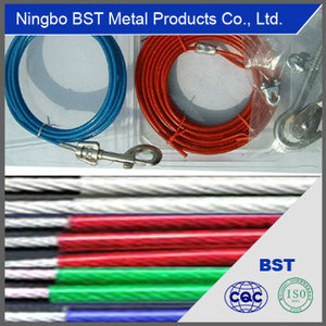 High Quality Coated Steel Wire Rope (7*7, 4.0mm-6.0mm)