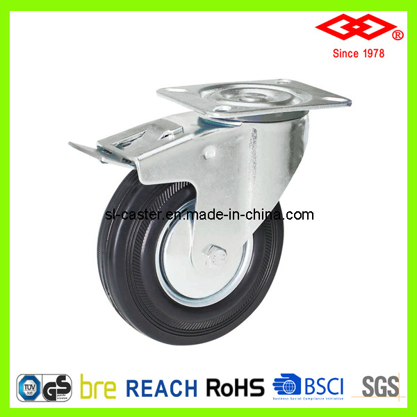 200mm Swivel Plate with Brake Industrial Castor (P102-11D200X50S)