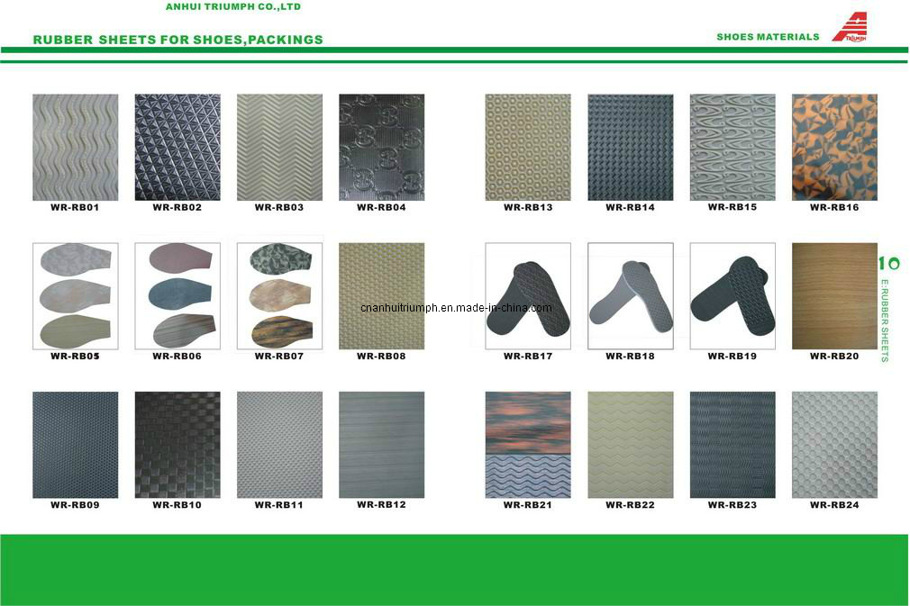 Rubber Sheet Hard Sheet for Shoe Sole